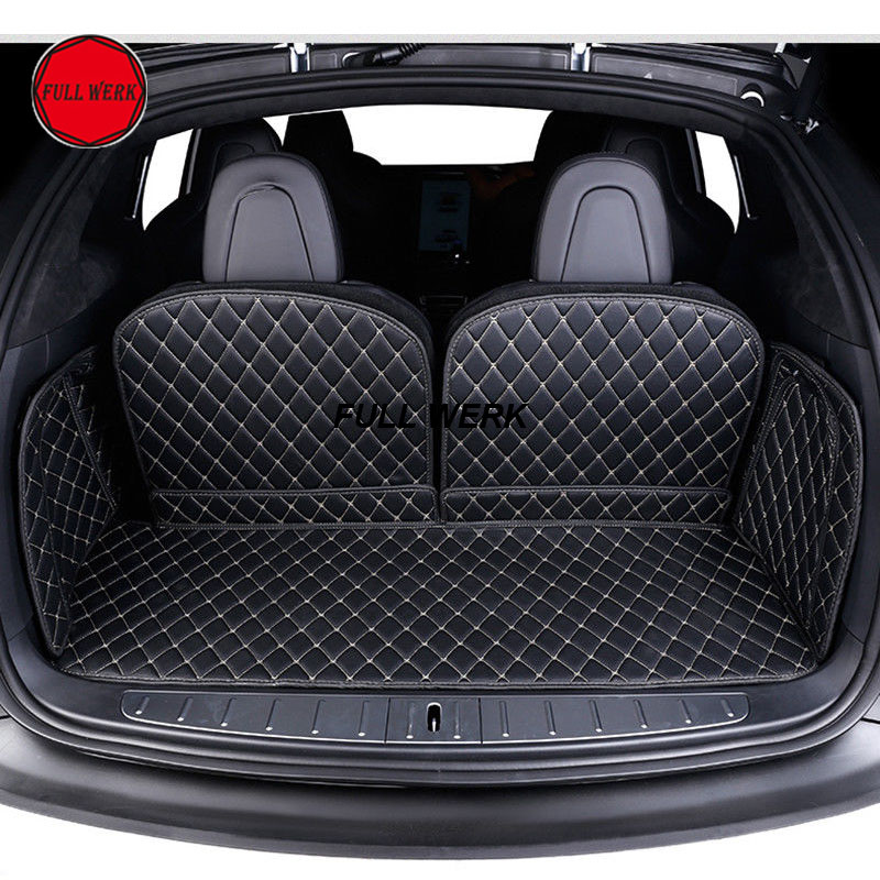 Car Trunk Mat Cargo Liner Rear Back Covers Waterproof Pad Protector for 2016-2017 Tesla Model X Interior Accessories 3d trunk mat for peugeot 508 waterproof car protector carpet auto floor mats keep clean interior accessories