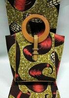 Трава зеленая африканская одежда соответствовать деревянная ручка африканская сумка и кошелек набор для квилтинга Африканский хор равном...