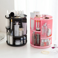 Extra Large Capacity Makeup Organizer 360 Degree Rotating Adjustable Multi Function Cosmetics Storage Box Plastic Jewelry Holder