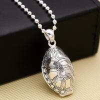 S925 sterling silver creative jewelry Feng Shui turtle shell men and women pendant (FGL)