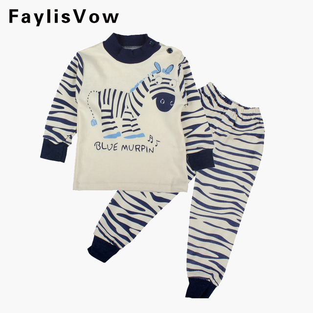fbc7235f3b83 Clearance Baby Clothing Set Boys Girls Soft Cotton Clothes Cartoon Zebra  Print Long Sleeve T-shirt and Pants Infant Casual Wear