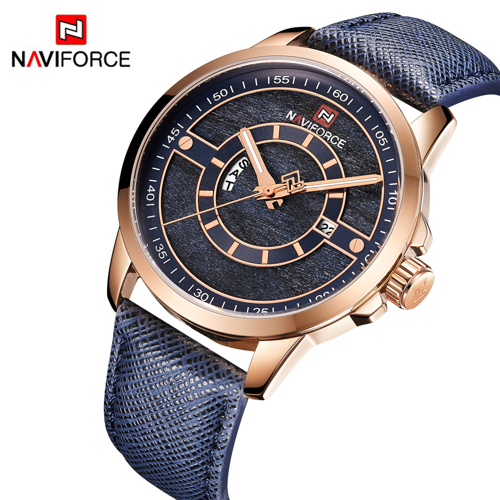 NAVIFORCE Fashion Sports Watches Mens Top Luxury Brand Mens Quartz Date Clock Male Waterproof Wrist Watch Relogio MasculinoNAVIFORCE Fashion Sports Watches Mens Top Luxury Brand Mens Quartz Date Clock Male Waterproof Wrist Watch Relogio Masculino