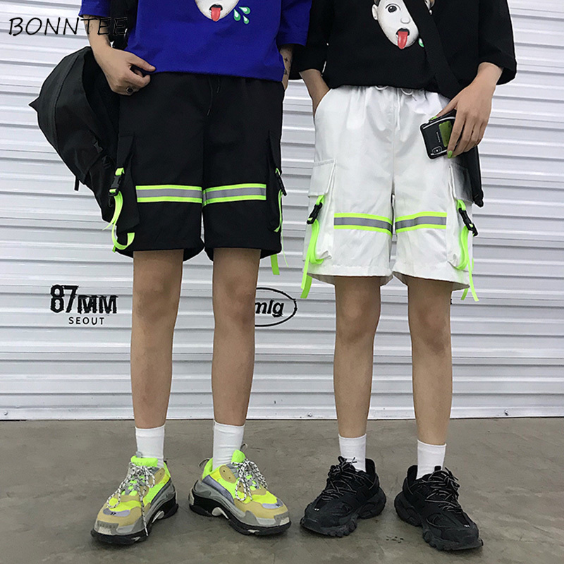 Shorts Women Patchwork Street Loose Couple Harajuku BF Daily Womens Sports Trendy Ulzzang Elastic Waist Leisure New Short Summer