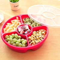 Creative fruit seal tray pyxidium Doug thickened year candy box dried fruit food box fashion food tray