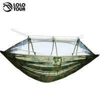 Camouflage Anti Mosquito Hammock High Quality Durable Outdoor Survival Hamak Can Hold 1 2 Person Hanging