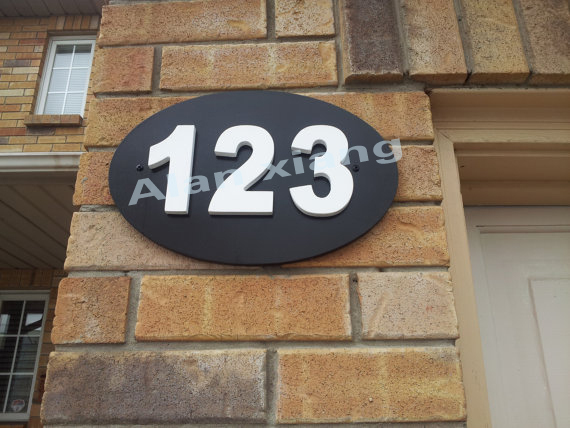 Free shipping Outdoor house number plaque. House numbers. House number sign. House number plaque