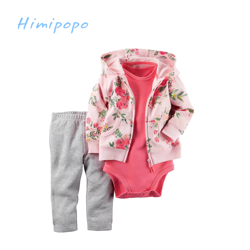 HIMIPOPO Casual Baby Bodysuit Set Newborn Cardigan Coat Set Baby Boy Clothes Outfit Bodysuit Baby Boy Clothes Cotton Baby Romper himipopo 2 pcs baby girls bodysuit dress