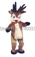 Рудольф красный нос Reindeer MASCOT костюм нестандартного размера косплей костюм персонажа из мультфильма карнавальный костюм маскарадный костю