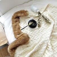 YOOSA Super Soft Long Shaggy Fuzzy Fur Thread Throws Blankets Faux Fur Warm Elegant Cozy With Fluffy Sherpa Throw Blanket