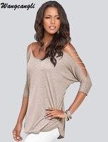 Wangcangli Fashion Style T Short Summer In Women Three Quarter Sleeve Casual O Neck T Short