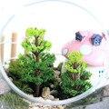 10 UNIDS/diy material/mini árbol falso (banyan tree)/terrario decoración/de hadas gnomo de jardín/hoticulture/planta/bonsai/artesanías de plástico