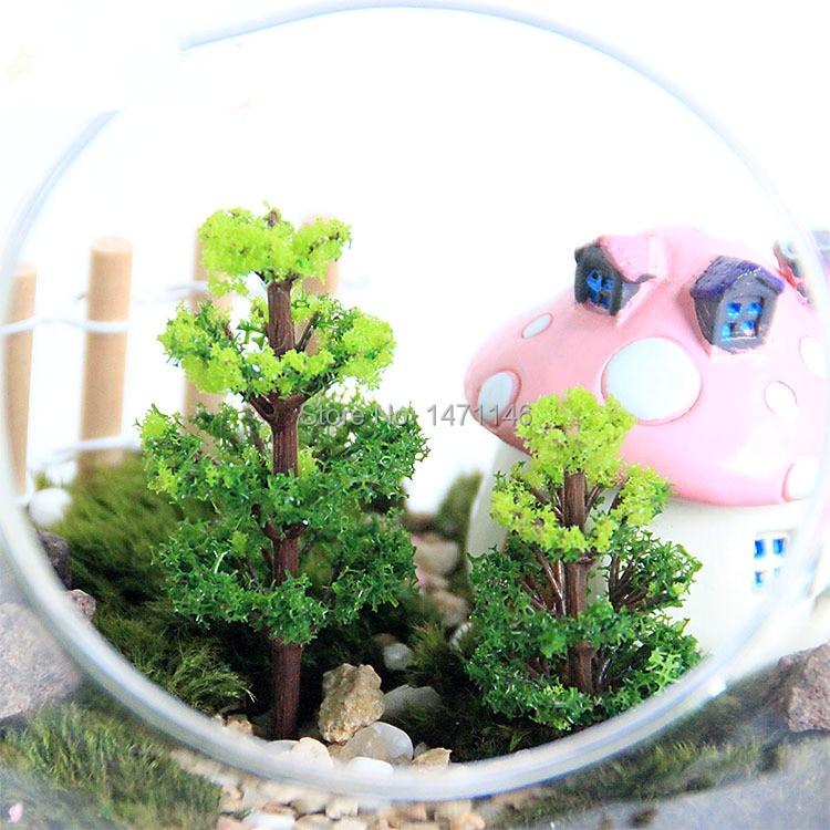 10pcs Diy Material Mini Fake Tree Banyan Tree Terrarium Decoration