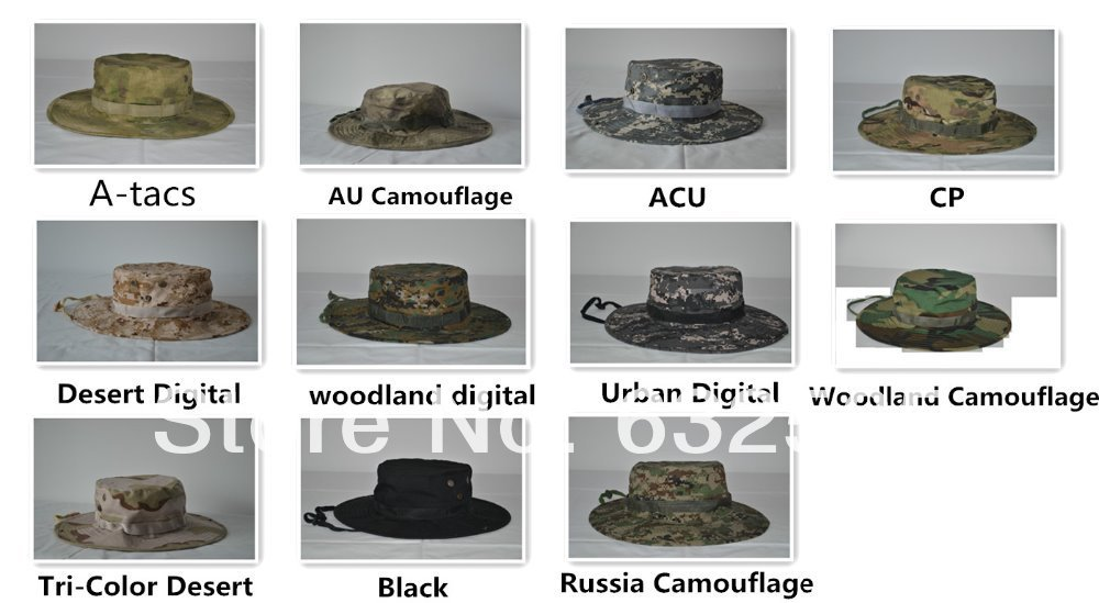 057847245ea30 Promotion 1PC Free Shipping Camo Military Hat Multicam Army Hat Tactical Boonie  Cap Wide Brim Military Camo Boonie Hat
