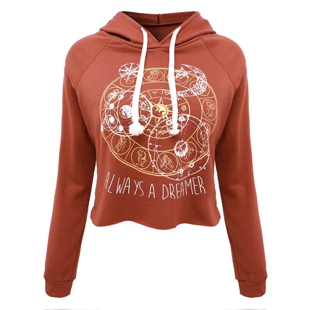 Design t shirts to sell - Feitong 2017 New Casual Women Crop Tops T Shirts Hooded Long Sleeve Round Neck Short Shirt
