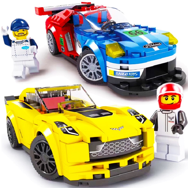 PIP GAMES Building Blocks Legoed City 166+pcs Racing Car Educational Toys Compatible Minecraft Cars Set Gift for Kids PGM008