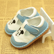 2019 New Cute Cartoon Baby Boys Girls Genuine Leather Shoes Soft Sole Infant Toddler Autumn Casual