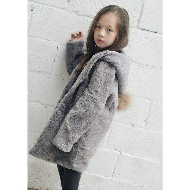 JKP 2018 de inverno das crianças meninos e meninas casaco de pele de ovelha de couro casaco de pele de carneiro de algodão mais quente jaqueta roupas YJR-01