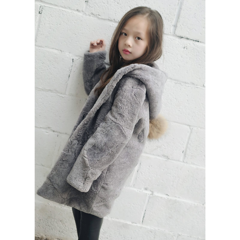 JKP 2018 winter children's leather sheep skin coat boys and girls sheepskin coat plus cotton warm jacket clothing YJR-01 sheepskin coat ad milano sheepskin coat