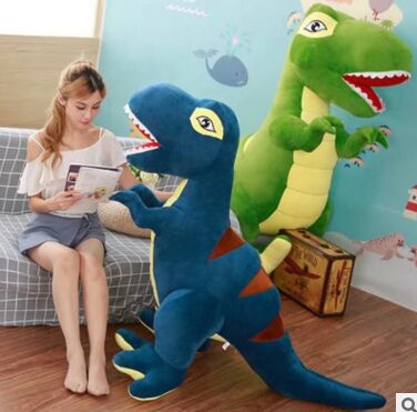 huge 200cm creative plush toy dinosaur Tyrannosaurus Rex soft hugging pillow home decoration birthday gift h2708 the dinosaur island jurassic infrared remote control electric super large tyrannosaurus rex model children s toy