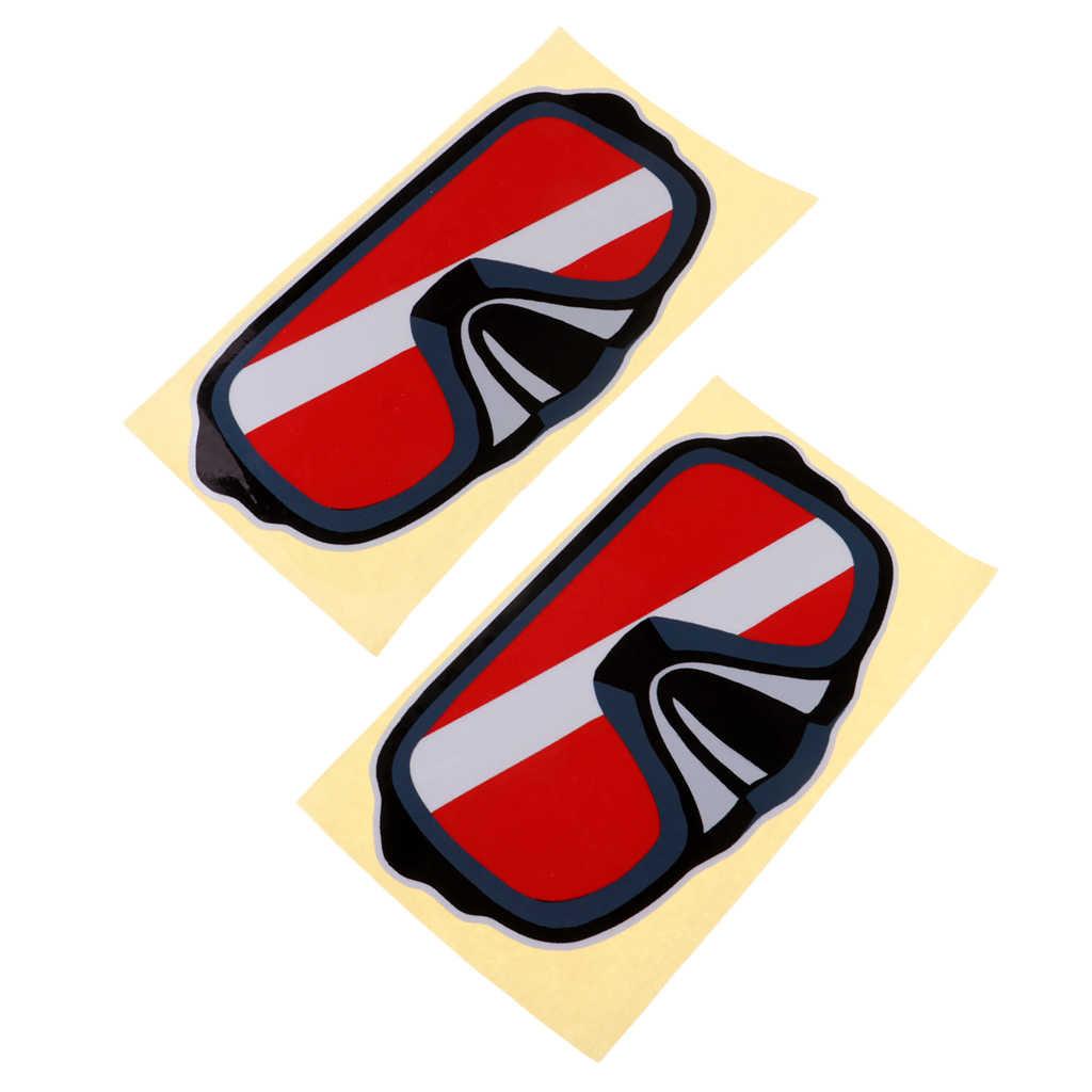 2 Stuks Reflecterende Zelfklevende Scuba Duiken Duiker Kajak Sticker Decal Voor Dive Tank Cilinder Flippers Snorkelen Zwemmen Water Sport
