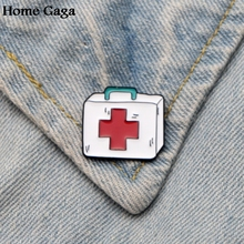 Homegaga Greys Anatomy First-aid kit Zinc Pins for men women Shirt Charm insignia Clothes backpack medal Badges Brooches D1815