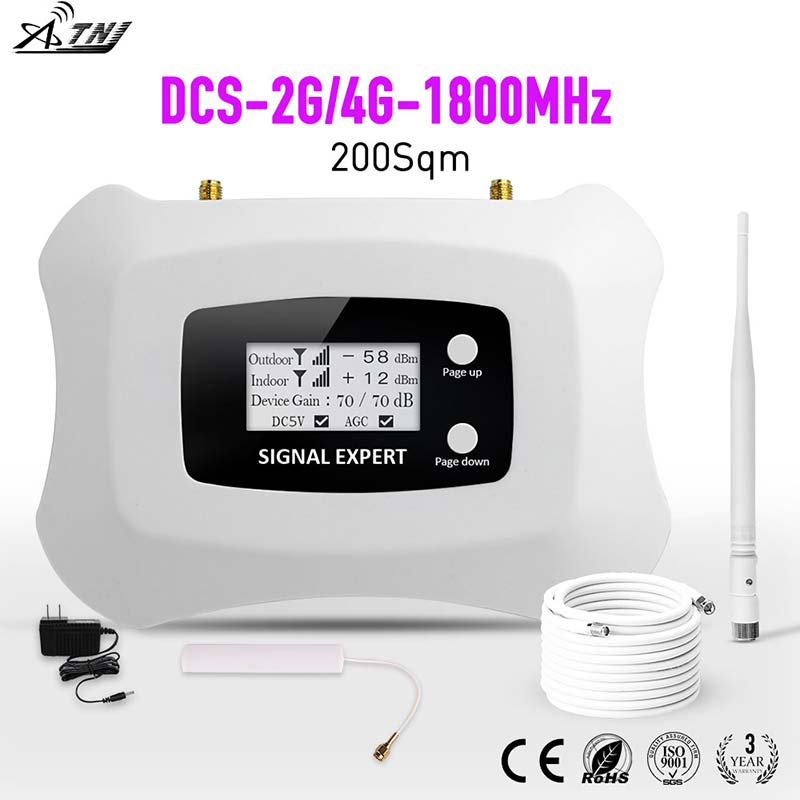 Specially For Russia 2G Tele2 4G LTE 1800mhz Smart Mobile Signal Booster 2G Signal Repeater DCS Cellular Signal Amplifier Kit