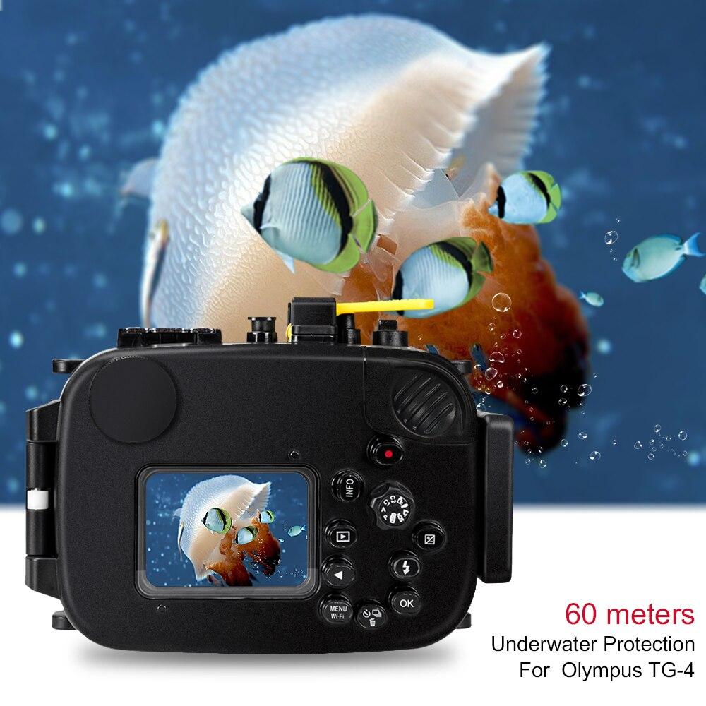 For Olympus TG4 Camera Underwater Housing Case Waterproof Diving Bag Shooting PC Equipment water resistance box (3)