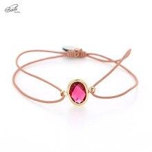 Badu Elastic Rope Bracelet String Charming Adjustable Bracelets for Women Edged Crystal Faceted Irregular Shape Wholesale