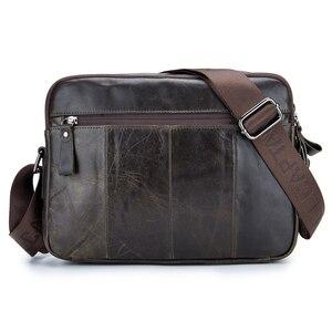 Image 2 - ABDB VINTAGE ของแท้กระเป๋าหนังผู้ชายกระเป๋าชายไหล่กระเป๋า Crossbody กระเป๋า Cowhide ความจุขนาดใหญ่เดินทาง Messenger B