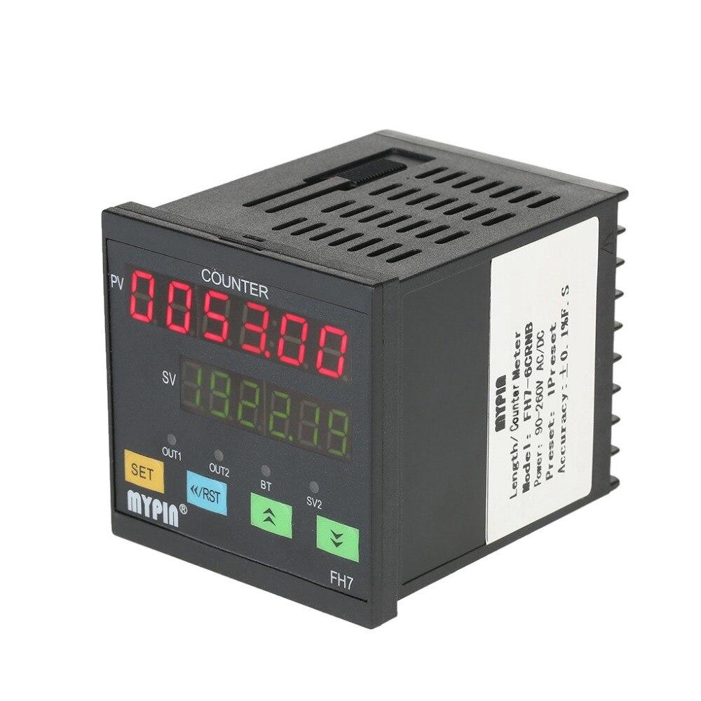 Compteur numérique multifonctionnel à 6 affichage nombres LED 90 ~ 265 V AC/DC capteur infrarouge sortie relais compteur PNP NPN