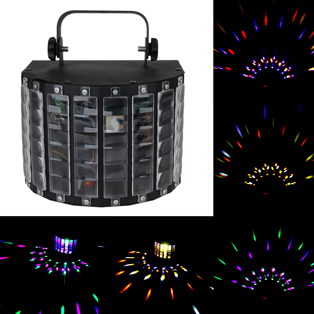 Sound Active Led Stage Light Professional Laser Projector With Remote Controller Disco Dj Home Party RGB Stage Light rg mini 3 lens 24 patterns led laser projector stage lighting effect 3w blue for dj disco party club laser