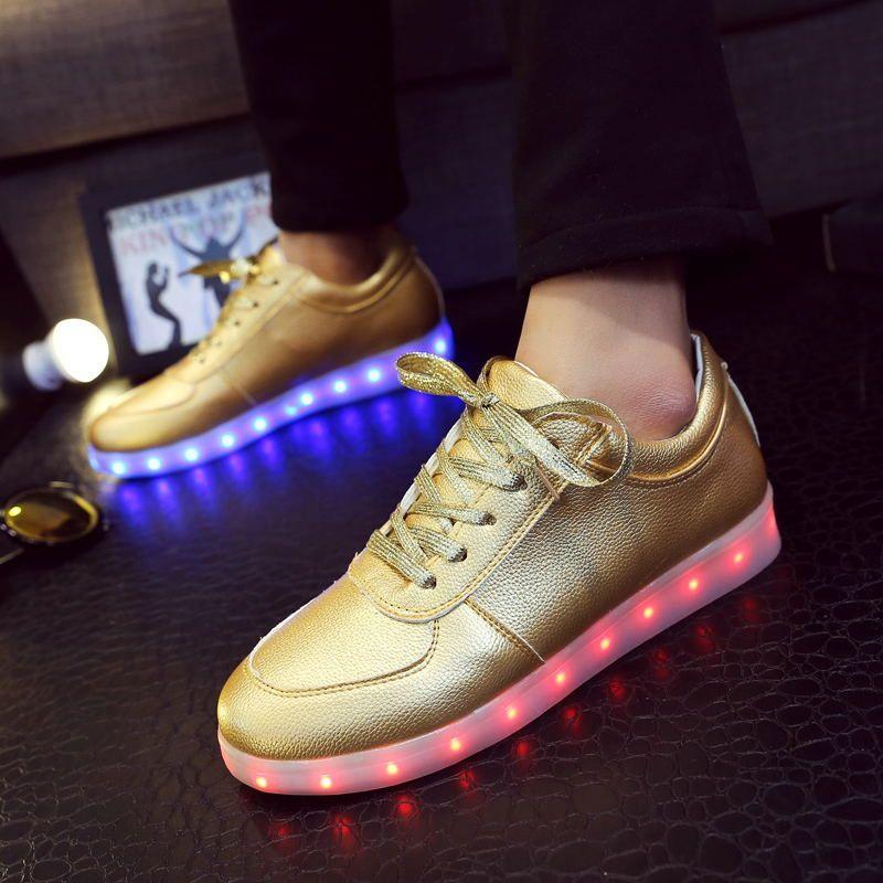 Usb Led Mujeres Femme Casuales Chussure Luces Tenis plata Adultos Zapatos Intermitentes Luminosos Oro Luz Brillantes TI5dWSxw