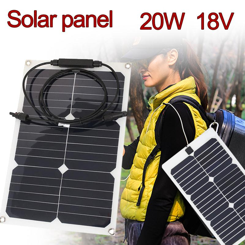 Cewaal 18V 20W Car Smart Solar Power Panel RV Boat Battery Charger W/Alligator Clip Outdoor Travelling Powerbank Power Supply радомысльский в мозгокилометры души