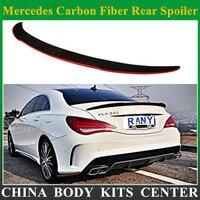 2013 для Mercedes углеродного Волокно задний спойлер cla класс W117 cla180 cla200 cla250 cla45 AMG с красной линии FD Стиль