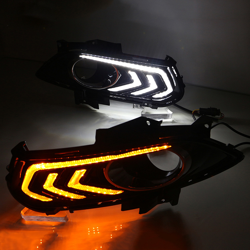 Daytime Running Light Specific For Ford New Mondeo2013-2015 DRL Fog Lights Modification of the Light Guide Bar with Fog LampHole sunkia daytime running light specific for ford new mondeo 2013 2015 drl fog lights modification with fog lamp hole