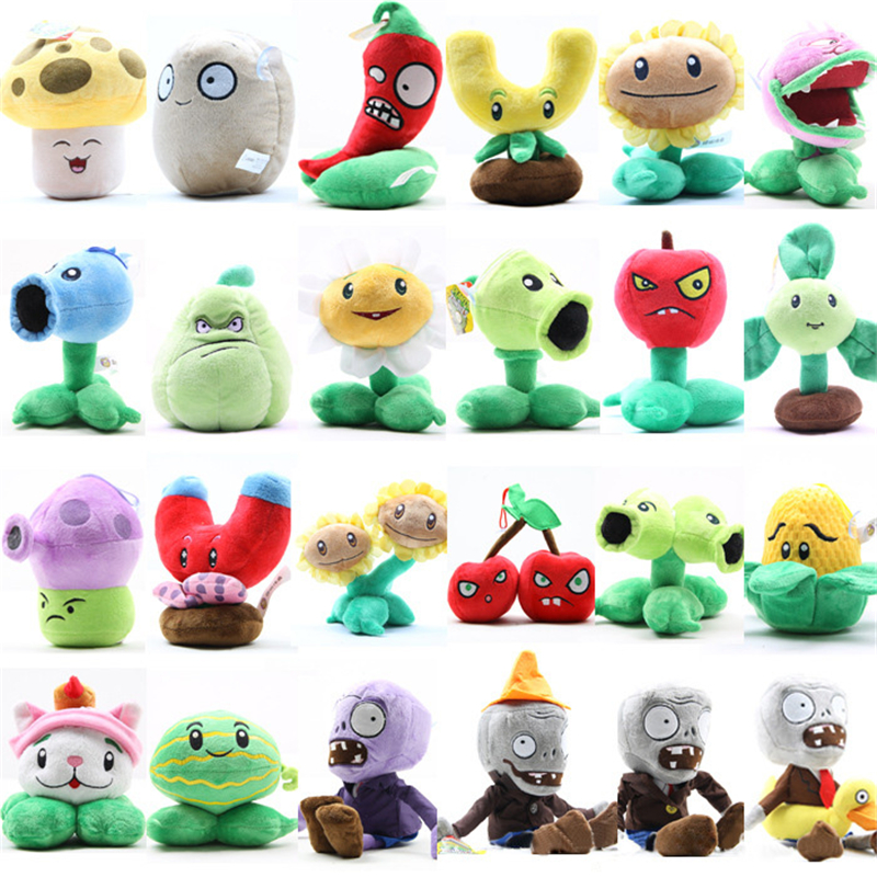20 Styles Plants vs Zombies Plush Toys 12-28cm Plants vs Zombies Soft Stuffed Plush Toys ...
