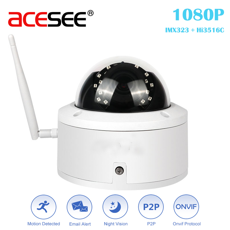 ACESEE 1080p Video Surveillance Outdoor ip Camera Wifi Home Security Cameras with Night Vision Waterproof Alarm System Wireless zosi 1080p 8ch tvi dvr with 8x 1080p hd outdoor home security video surveillance camera system 2tb hard drive white
