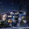 Novo led efeito luzes do floco de neve de natal ao ar livre luz do projetor jardim decoração da árvore de natal do feriado iluminação da paisagem do lado de fora