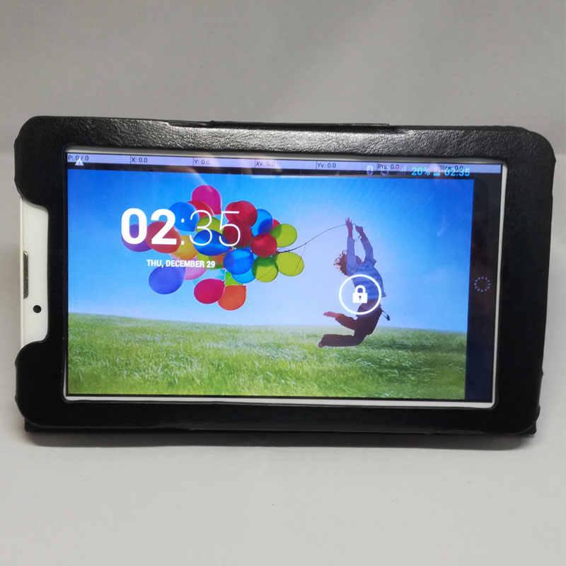 Myslc impreso Pu cubierta de cuero para Prestigio Multipad PMT3157_4G_C 7 pulgadas Tablet soporte magnético funda