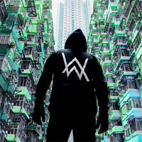Large size XS XXXL DJ rock Faded Hoodie Korean students and young men and women set head Alan walker with cashmere Hoodie