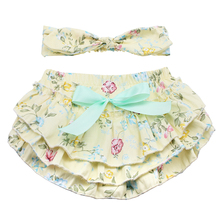 beautiful baby girls cotton clothing headband sets ruffle toddler diaper covers infant cute birthday Easter bloomer sets