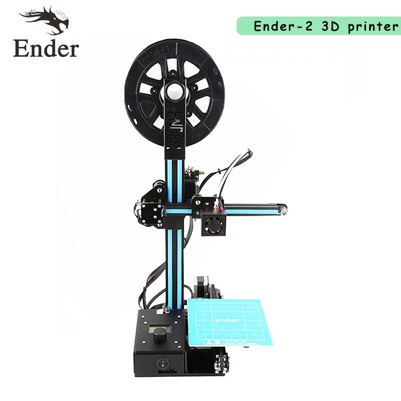 2017 Newest Ender-2 Mini printer 3d Reprap prusa i3 Cheap 3D printer DIY Kit Machine with filament+8G SD card+tools+HotBed 2017 newest tevo tarantula prusa i3 3d printer diy kit