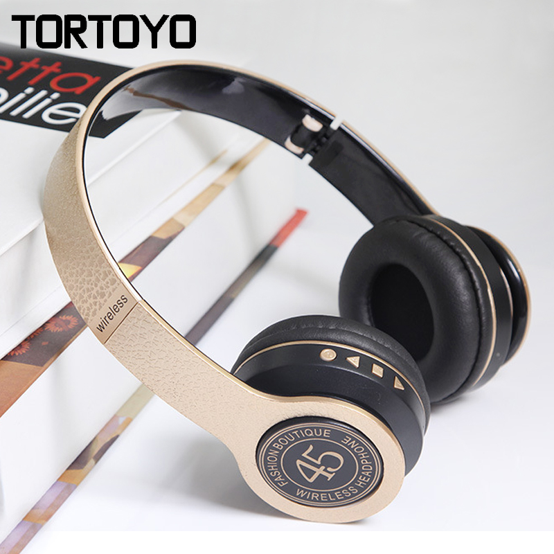 P45 Universal Foldable Stereo Built-in HD Mic Wireless Bluetooth Headset Headphone Earphone Support TF Card FM Radio MP3 Player high quality portable wireless bluetooth stereo foldable headphone with built in mic speaker for music