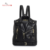 Brand Backpack Women PU Leather Bag Personality Small Women Backpack Mochila Feminina School Bags For Teenagers