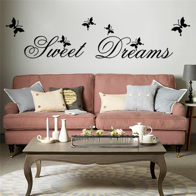 Sweet Dreams Erfly Quotes Wall Stickers Bedroom Home Decor Pvc Decals Diy Mural Art Lettering Words Wallpaper In From Garden