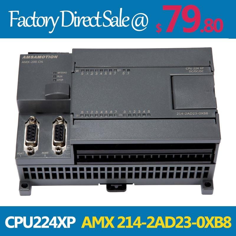Amsamotion CPU224XP AMX S7-200CN PLC DC/DC/DC 14 Input 10 Output 2AI/1AO 214-2AD23-0XB8 Transistor Output Digital Input PLC compatible projector lamp bulbs poa lmp136 for sanyo plc xm150 plc wm5500 plc zm5000l plc xm150l