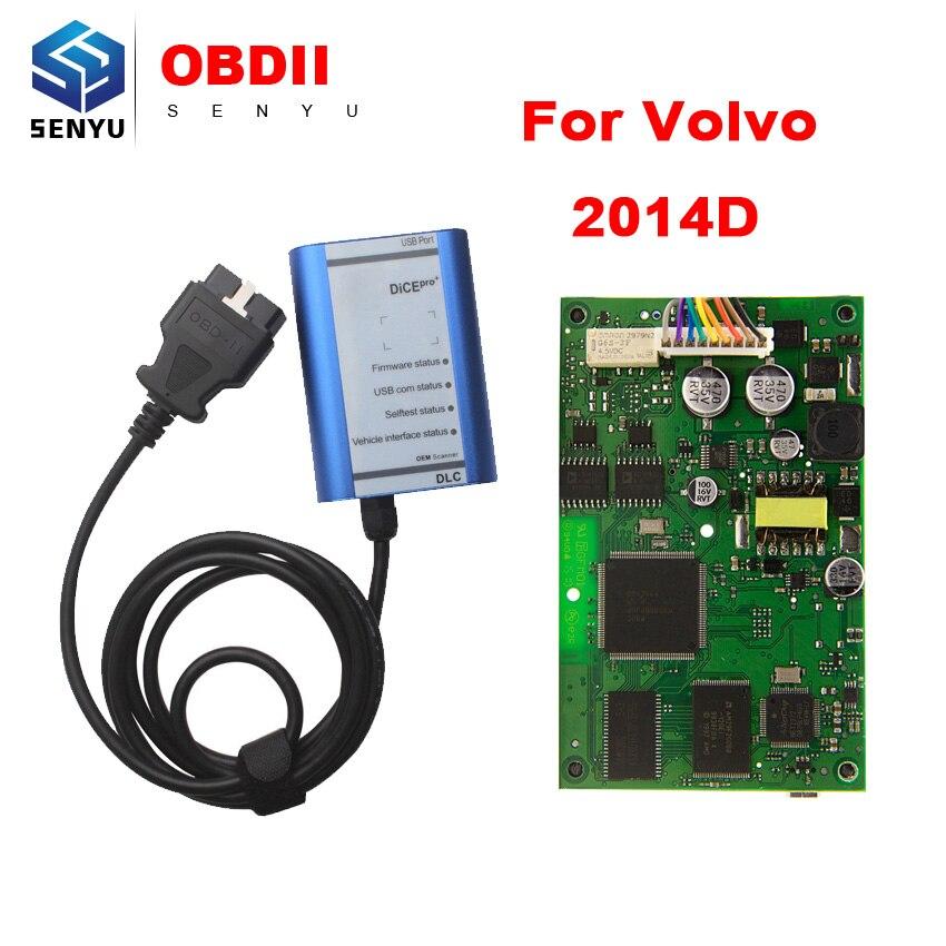 Цена за Для Volvo Dice Pro + 2014D Автомобиля Диагностический инструмент VIDA DCE Pro для Volvo Диагностический Обновление По CD С Mutil язык