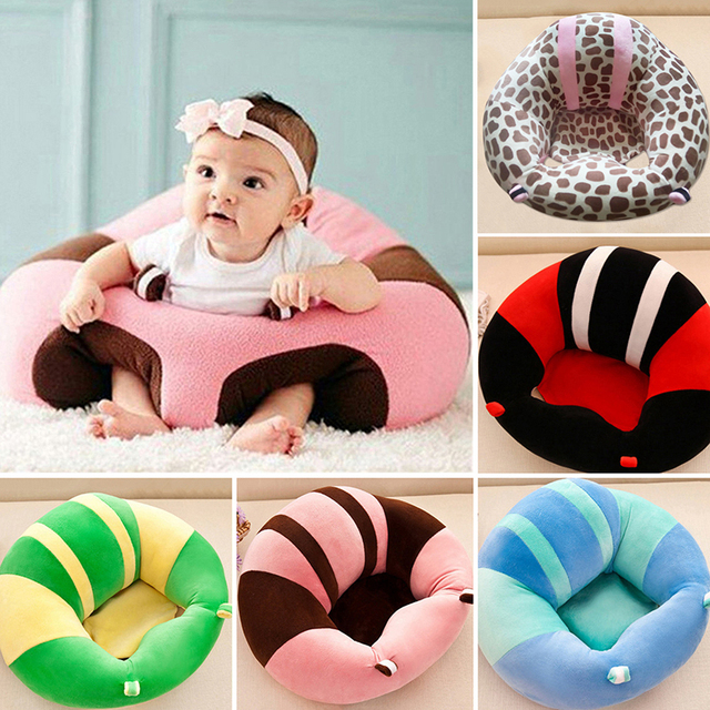 Baby Support Seat Plush Soft Baby Sofa Infant Learning To Sit Chair Keep  Sitting Posture Comfortable