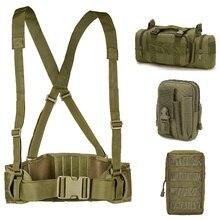 Тактический ремень Molle мужской армейский Военный Специальный 1000D нейлоновый ремень удобный боевой пояс EAS h-образный Регулируемый мягкий