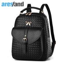Aresland Для женщин рюкзак 2017 рюкзак для подростков модная одежда для девочек сумка школьная сумка мульти-карманы Bolsas femininas лук